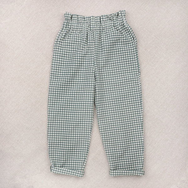 Gingham Teal Trousers