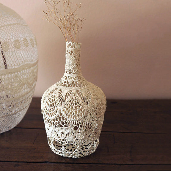 Cream Lace Bottle