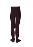 Ribbed Tights Aubergine