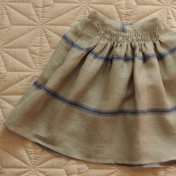 Bobo Skirt Mattress Blue stripes