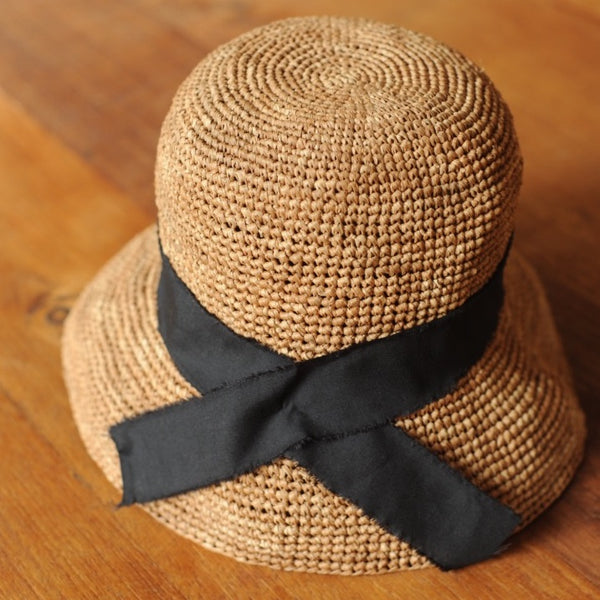 Woman Cloche Raffia Straw Hat