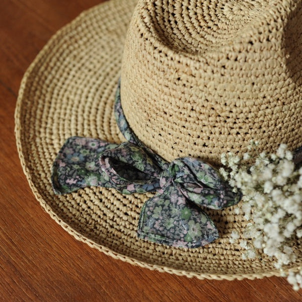 Girl Georgette Raffia Straw Hat