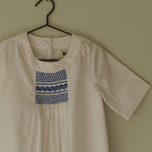 Rosemary Smocked Dress White