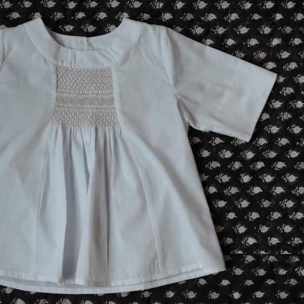 Rosemary Smocked Top White