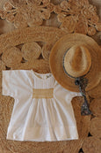 Vera Smocked Top White