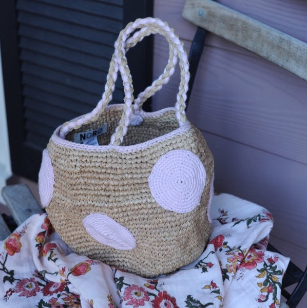Madrague Raffia Basket Dots S