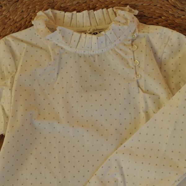 Margot Silver Dots Glitter Blouse