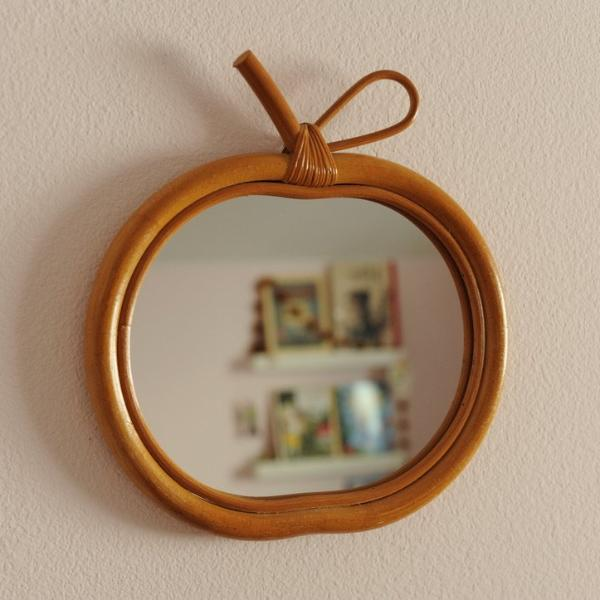 French Vintage Apple Mirror