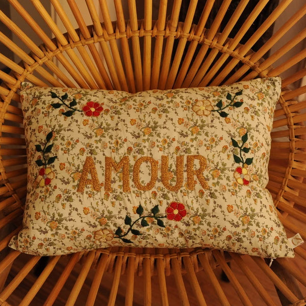AMOUR Embroidered Pillow