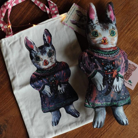 Blanche The Rabbit Mini Tote by Nathalie Lété
