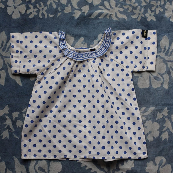 Blue Dots Baby Blouse