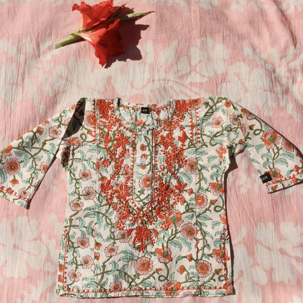 Floral Embroidered Kurta Blouse