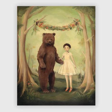 In the Spring She Married A Bear Print