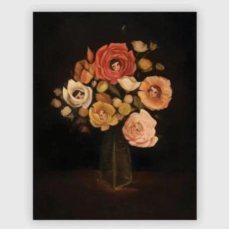 Still Life With Live Flowers Print