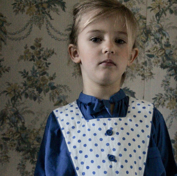 Blue Dots Apron Dress