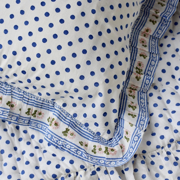 Blue Dots Pillow Case