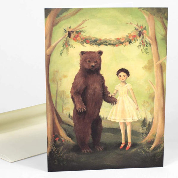 In the Spring She Married A Bear Notecard