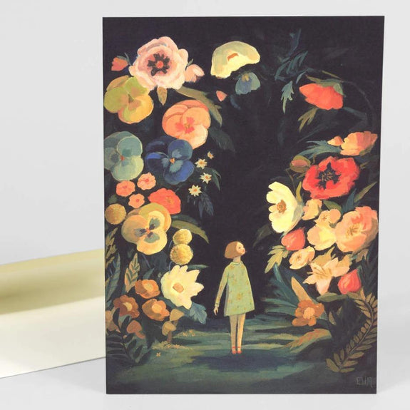 Night Garden Notecard
