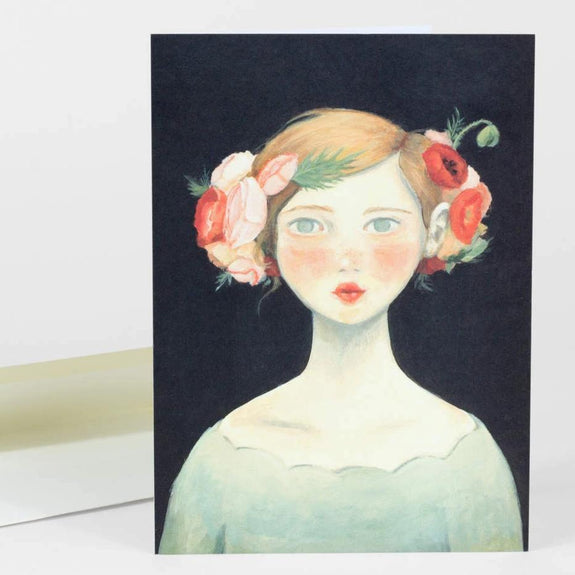 Shirley Poppy Notecard