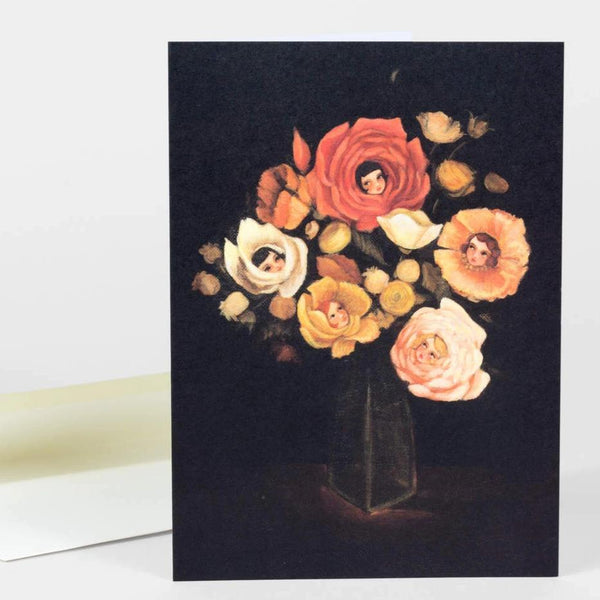Still Life With Live Flowers Notecard