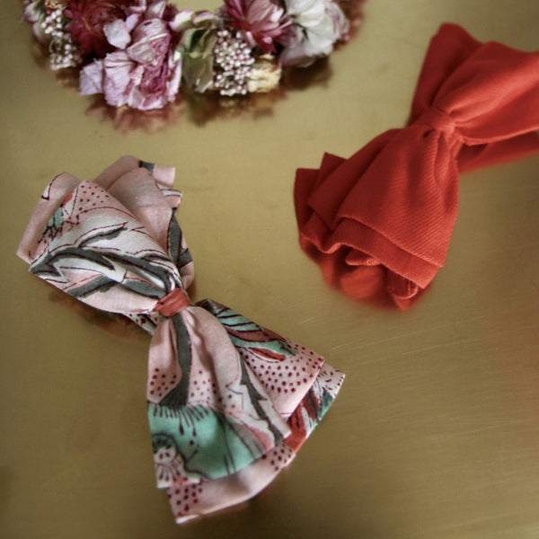 Indian Flowers Oversized Bow