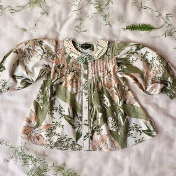 Romantic Orchid Blouse
