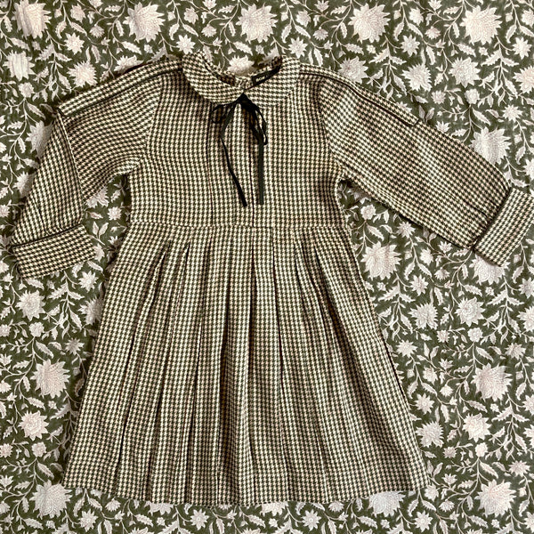 """Pied de Coq"" Check Vintage Dress"