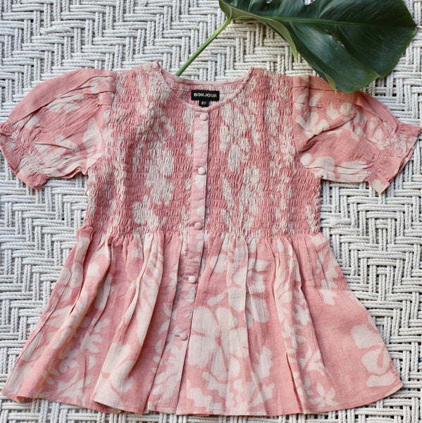 Pink Tahiti Balloon Blouse