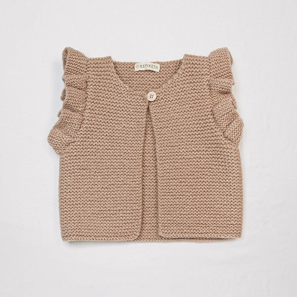 Mia hand-knitted vest Rose