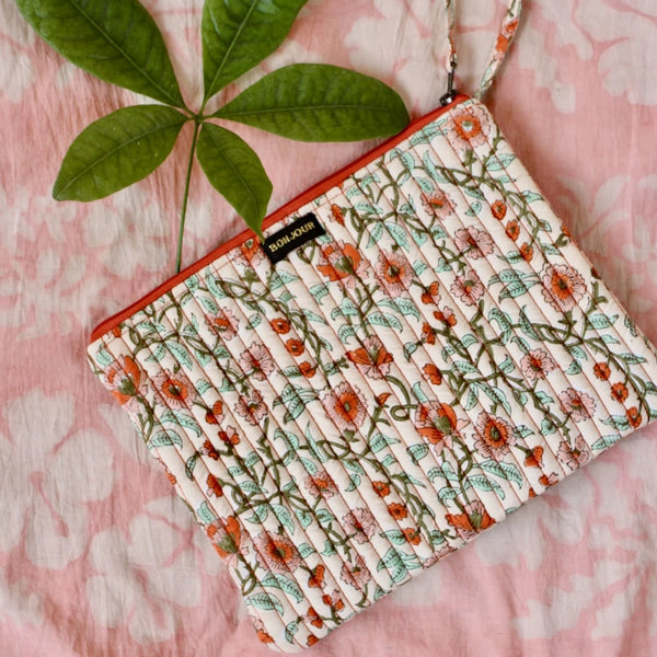 Floral Pencil or Make-up Case
