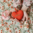 Set of 3 Decorative Embroidered Hearts