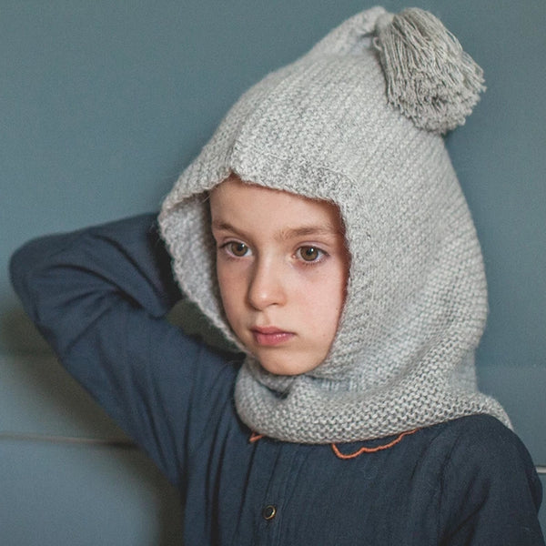 Heather Grey Lutin Alpaca Wool hat