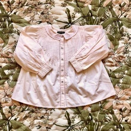 Romantic Pale Pink Blouse