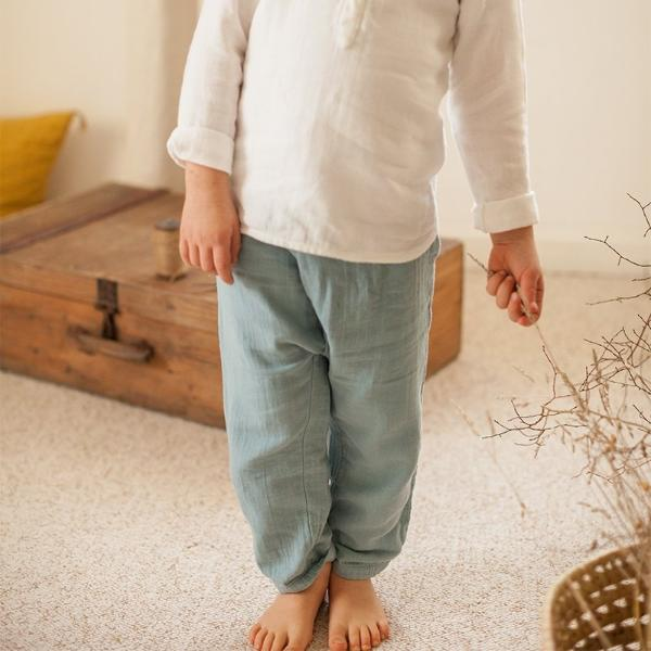 Mineral Blue Cotton Pant