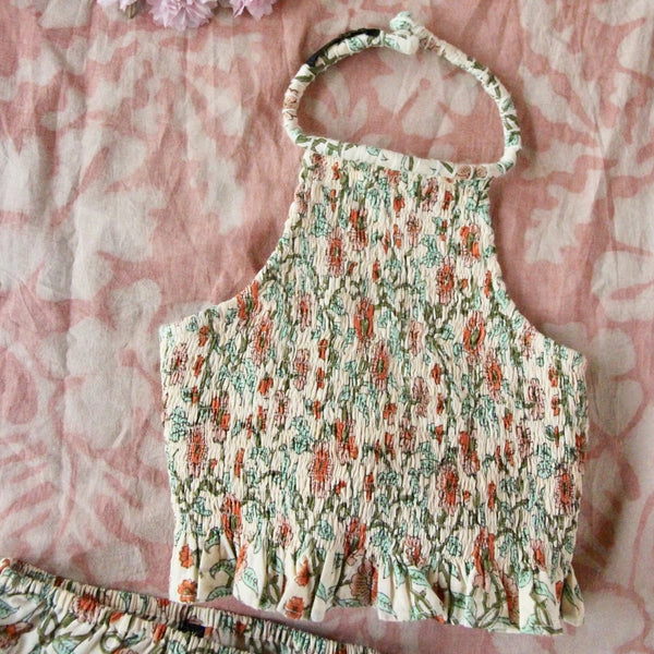 Floral Smocked Neck Top