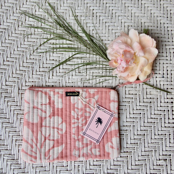 Pink Tahiti Pencil or Make-up Case