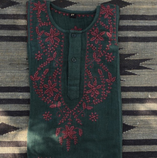 Dark Forest Green Kurta Shirt