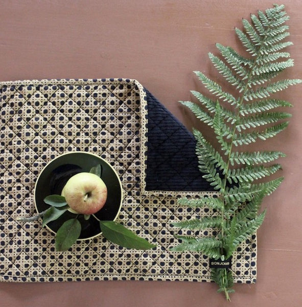 Cane Print Quilted Table Mat