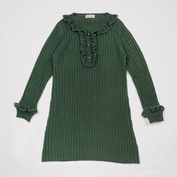 Peggy Knitted Dress Green Blue