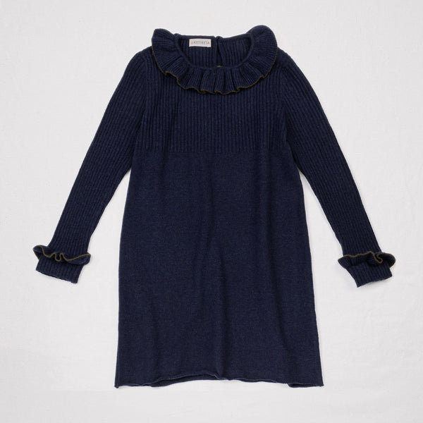 Romy Knitted Dress Purple Blue