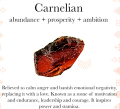 Gem properties of carnelian
