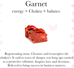 Gemstone properties of garnet