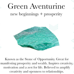 Gemstone properties of green aventurine