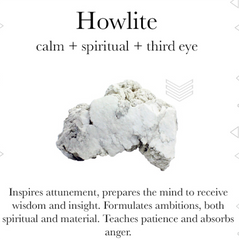 Gemstone properties of Howlite