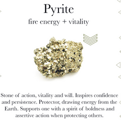Gemstone properties of pyrite