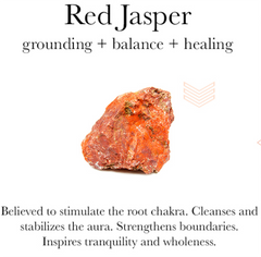 Gemstone properties of red jasper.