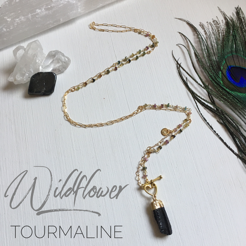 Wildflower- Raw Cut Tourmaline