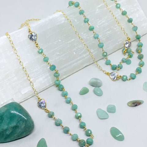 Tend a Rose Classic Gemstone Infinity Necklace
