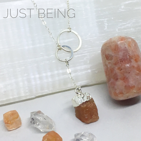 Just Being - Birthstone Gemstone Lariat Necklace