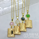 The Whole World - Pave Gemstone Locket